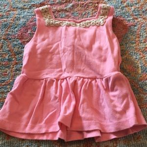 Janie and Jack pink peplum top size 2T